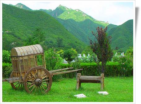 优美的凤凰山陵园景色一角